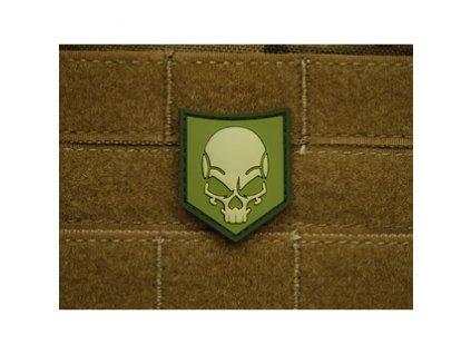 jtg sofs lfo jtg sof skull patch light forest 3d rubber patch 1