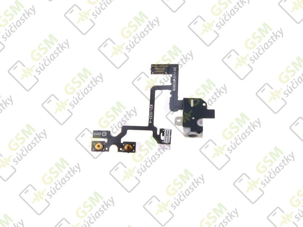 Flex kábel hlasitosti Iphone 4 - audio jack konektor