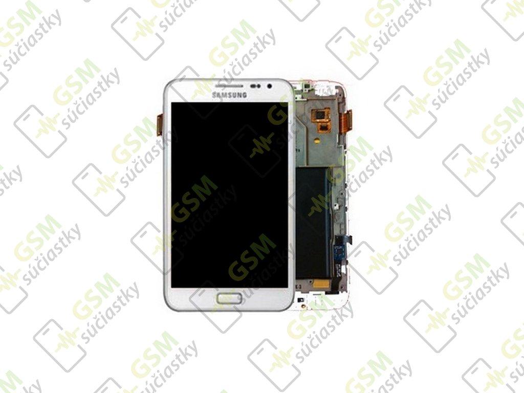 lcd displej samsung N7000 Galaxy Note dotykové sklo biele s RÁMOM