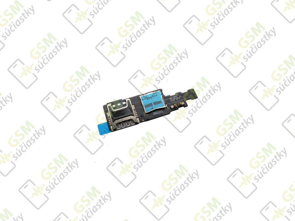 Flex kábel SIM karty a SD karty Samsung G800F Galaxy S5 mini