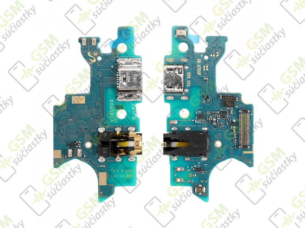 Spodná doska nabíjania Samsung A750 Galaxy A7 2018 - flex nabíjací konektor, mikrofón