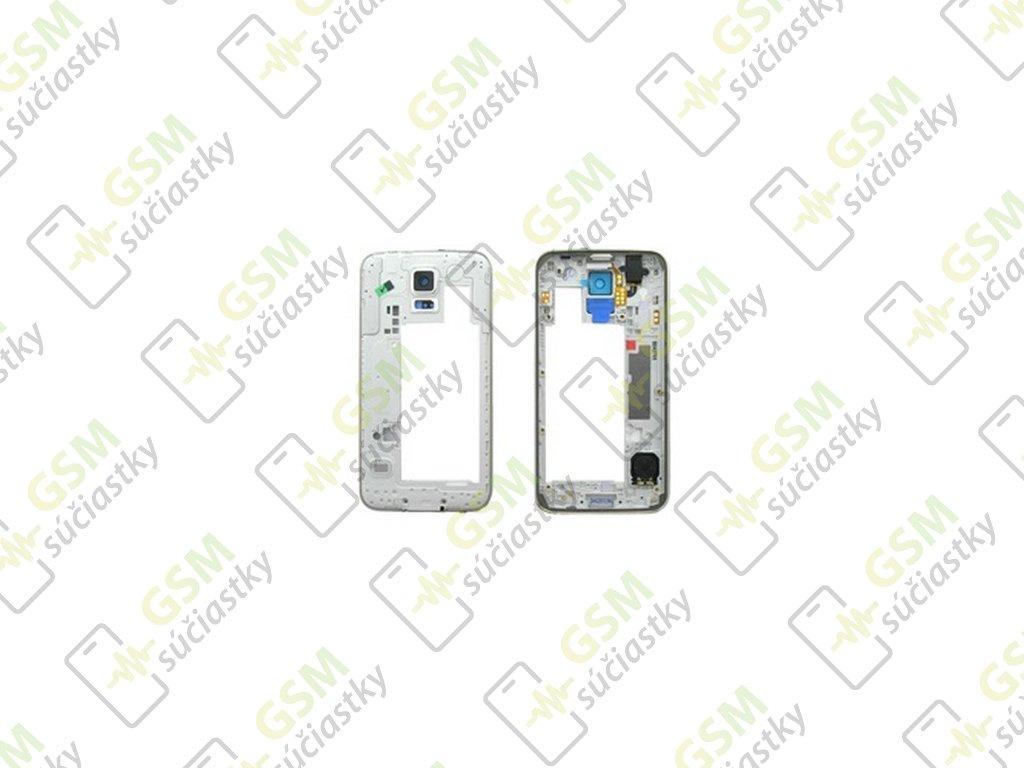 RÁM stredový Samsung Galaxy S5 G900 biely