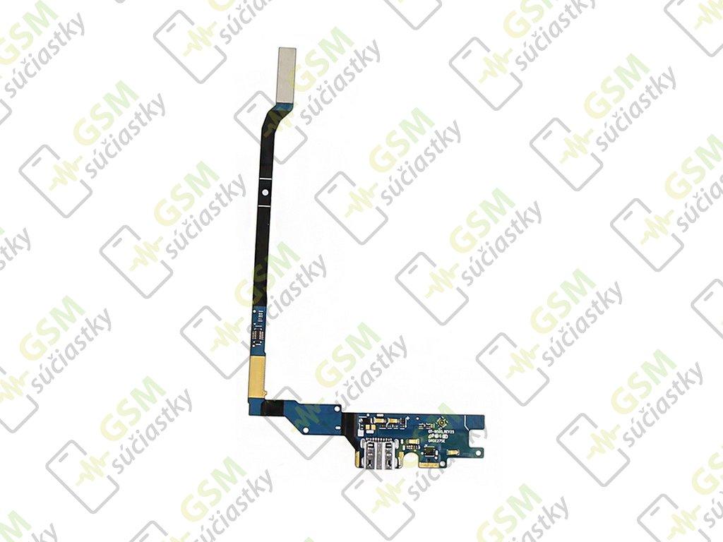 Flex nabíjania Samsung Galaxy S4 - nabíjací konektor, mikrofón