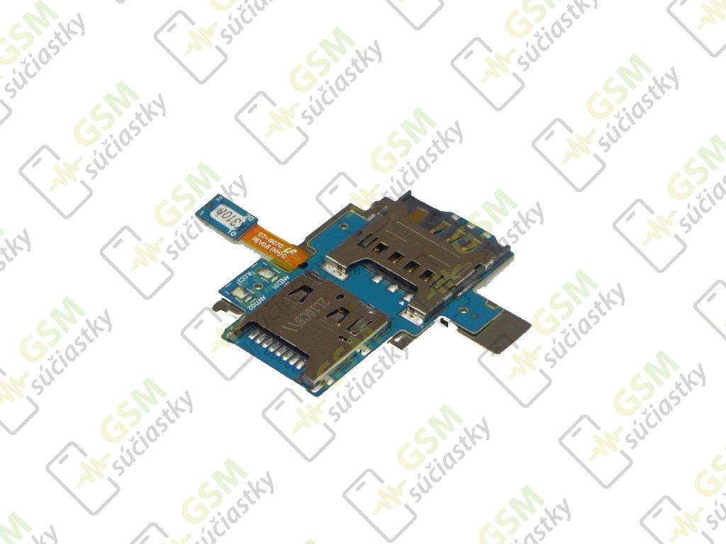 Flex kábel SIM karty a pamäťovej karty Samsung I9070 Galaxy Advance