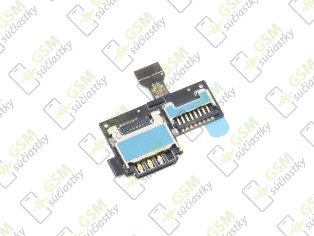 Flex kábel SIM karty a pamäťovej karty SD Samsung I9195 Galaxy S4 mini