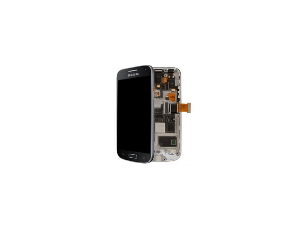 LCD displej + Dotykové sklo a Rám Samsung I9195 Galaxy S4 mini Originál
