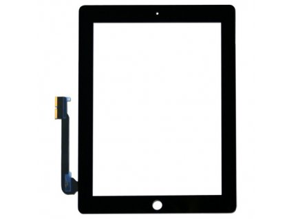 iPad 3, iPad 4 Dotykové sklo čierne