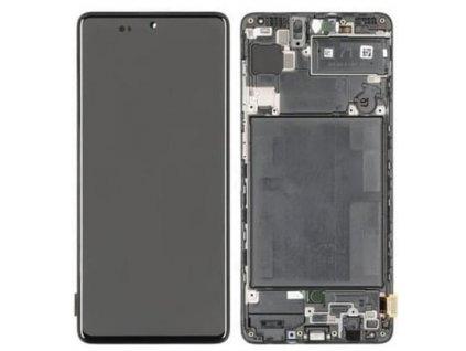 LCD displej Samsung A715 Galaxy A71 Dotykové sklo a Rám