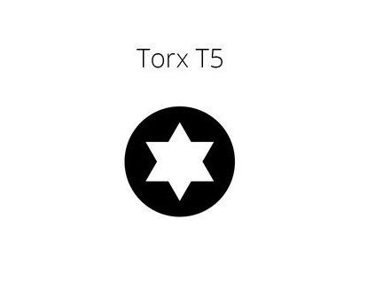 Skrutkovač torx T5 pre malú elekroniku