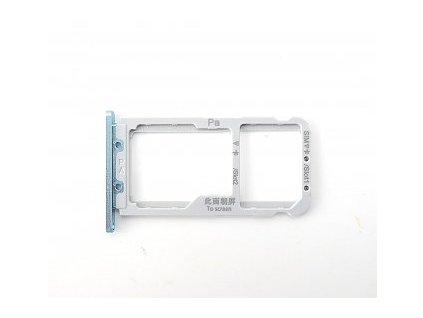 Držiak SIM karty a SD karty Huawei Nova 3 modrý