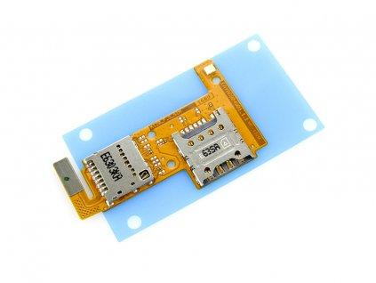 Flex kábel SIM karty a pamäťovej karty SD LG K120e K4 LTE