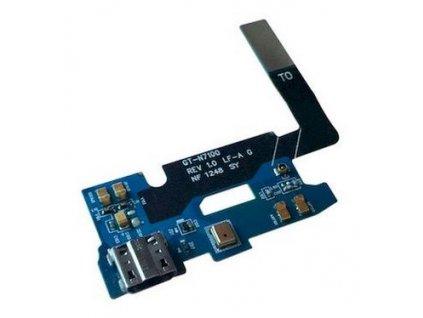 Flex kábel nabíjania Samsung N7100 Galaxy Note 2 a Mikrofón