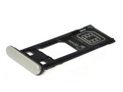 Držiak SIM SD karty Sony F5121 Xperia X biely