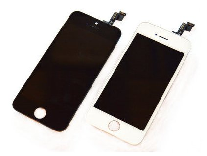 LCD displej Iphone 5S biely dotykové sklo