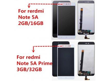 LCD displej Xiaomi Redmi Note 5A, Note 5A Prime - Dotykové sklo