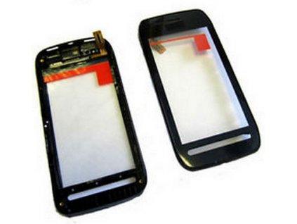 Nokia 603 Dotykové sklo čierne a Rám
