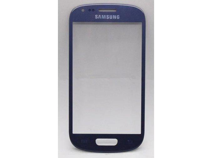 Sklíčko Samsung Galaxy S3 mini I8190 blue + lepka   + lepka zdarma