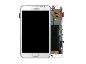 Samsung N7000 Note LCD displej a dotykove sklo biele s Rámom GH97 12948B