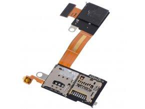 Flex kábel SIM karty a SD karty Sony D2303 Xperia M2
