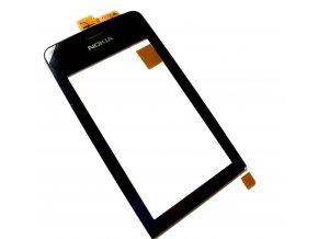 Dotykové sklo Nokia Asha 308 čierny  + 3M lepka zdarma