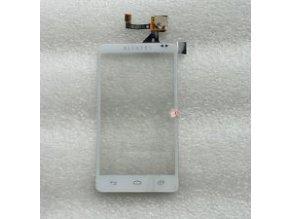 Alcatel OT-993 One Touch - Dotykové sklo biele  + Lepka zdarma