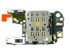 PCB doska Huawei P30 Pro SIM čítač a microSD karty, anténa, mikrofón