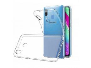 Samsung Galaxy A40 - silikonové priesvitné pudro obal