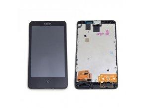 LCD displej Nokia X Dual + Rám black