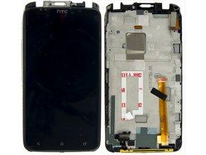 HTC ONE X - LCD displej a dotykove sklo + RÁM čierny