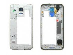 Stredový kryt Samsung G900 Galaxy S5 white