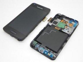 LCD displej Samsung Galaxy Advance I9070 čierny a dotykové sklo s Rámom GH97 13277A