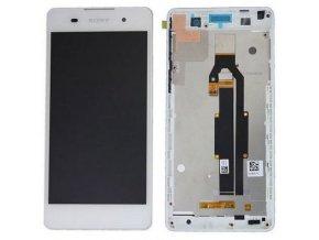 LCD displej Sony Xperia E5 F3311 biely a dotykové sklo + RÁM 78PA4100010