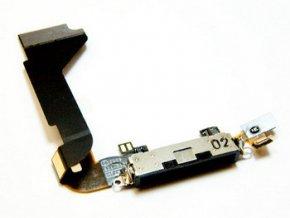 Flex kábel Iphone 4 konektor nabíjania black