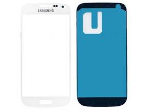 Sklíčko Samsung Galaxy S4 mini I9195 white + lepka