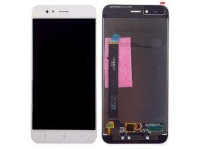 LCD displej Xiaomi Mi A1 a Dotykové sklo biely