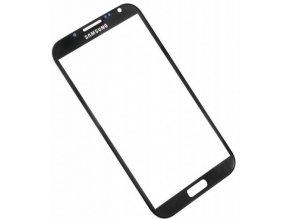 Sklíčko Samsung Galaxy Note II N7100 black + lepka
