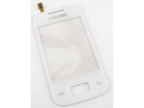 Dotykove sklo Samsung S5300 Galaxy Poket biely   + 3M lepka zdarma