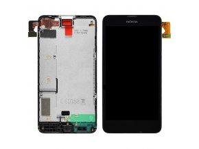 Nokia Lumia 630, 635 - LCD displej a dotykove sklo + RÁM čierny