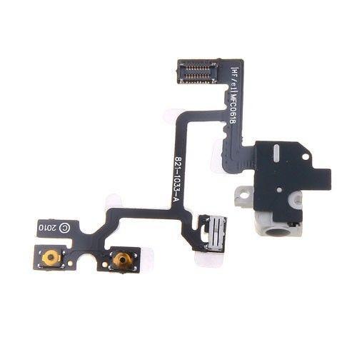 Flex kábel Iphone 4 audio jack/volume white