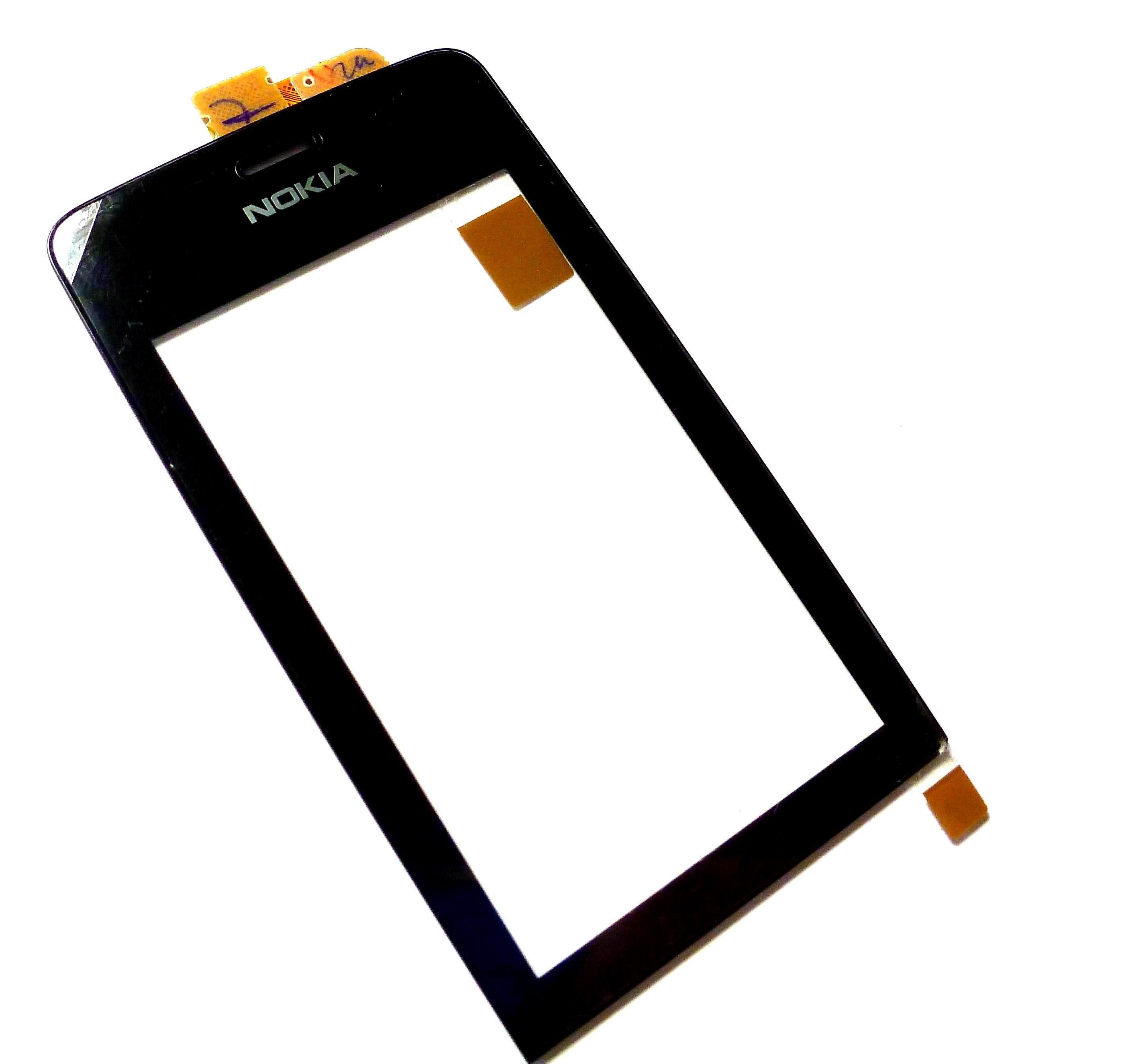 Dotykové sklo Nokia 308 black + lepka