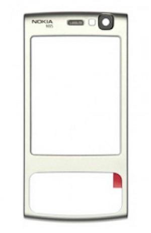 Predný kryt Nokia N95 silver