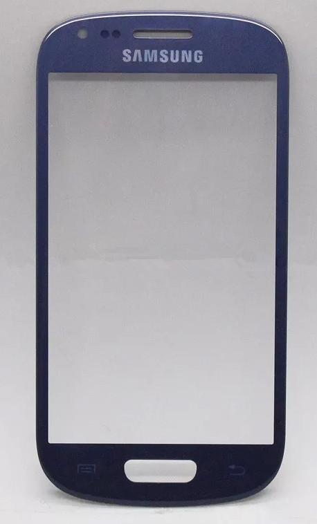 Sklíčko Samsung Galaxy S3 mini I8190 blue + lepka