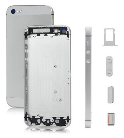 Baterkový kryt Iphone 5 silver s RÁMOM