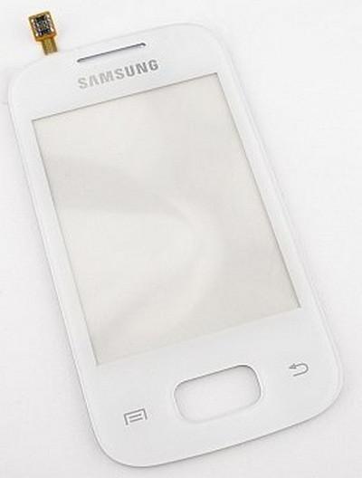 Dotykove sklo Samsung S5300 Galaxy Poket white