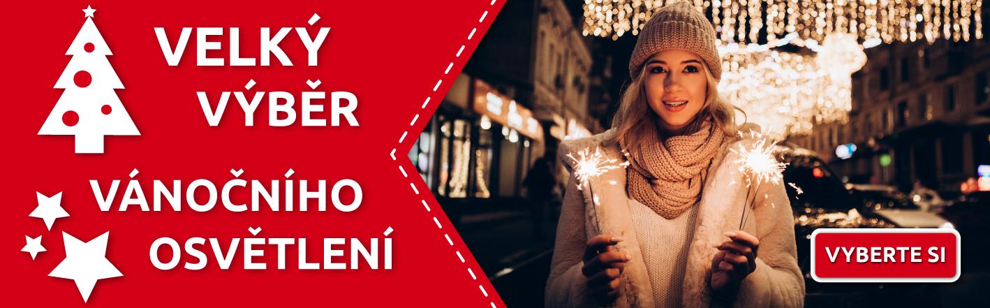 Velký výběr vánočního osvětlení a světelných dekorací