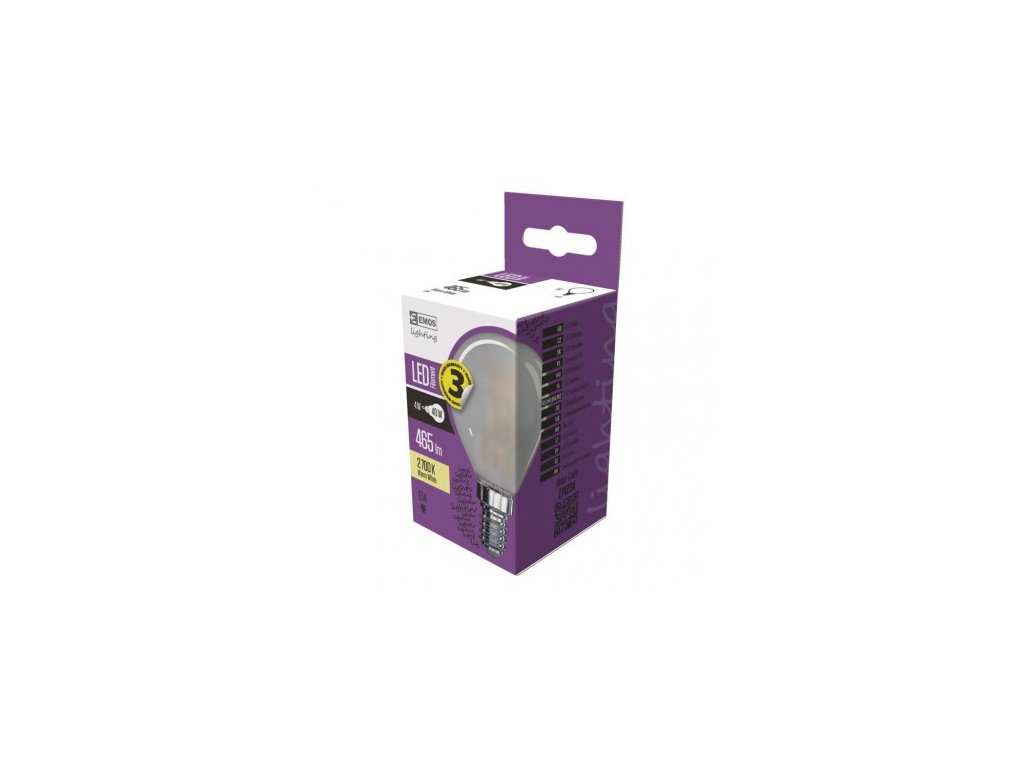 LED žárovka Filament Mini Globe matná 4W E14 teplá bílá