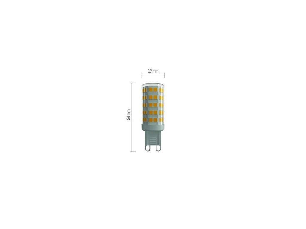 LED žárovka Classic JC 4,5W G9 teplá bílá
