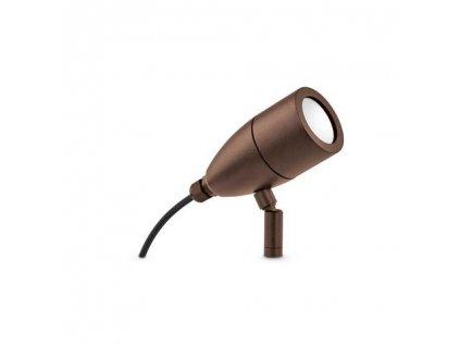 Venkovní zapichovací reflektorové svítidlo Ideal Lux Inside PT1 Coffee 247045 G9 1x15W IP54 hnědé