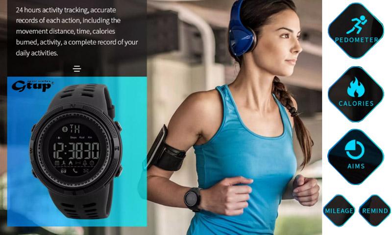 Chytré smart hodinky Gtup 1100 s propojením přes telefon