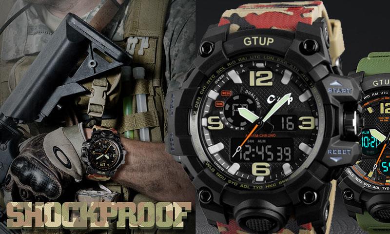 Sportovní hodinky Gtup 1050 khaki
